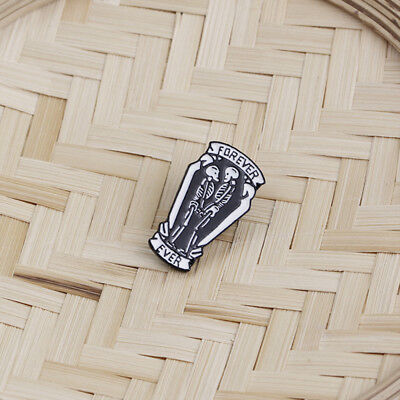 Punk Style Coffin Skull Metal Lapel Pin Badge Brooch Denim Blouse Jewelry DP