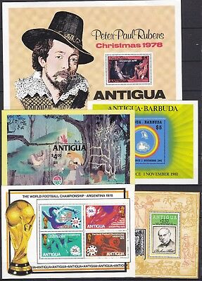 ANTIGUA 5 X DIFFERENT S/S (ref 20) MINT NEVER HINGED