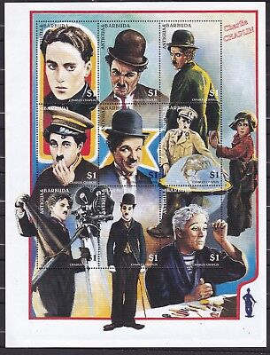 ANTIGUA CHARLIE CHAPLIN S/S (ref 24) MINT NEVER HINGED