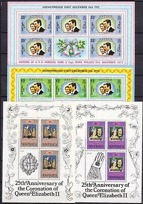 ANTIGUA 4 X DIFFERENT S/S (ref 28) MINT NEVER HINGED