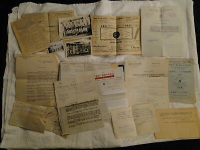 Top rare documents anciens ADRiEN CHAUVIN Football Reims & Troyes 1944 à 1949