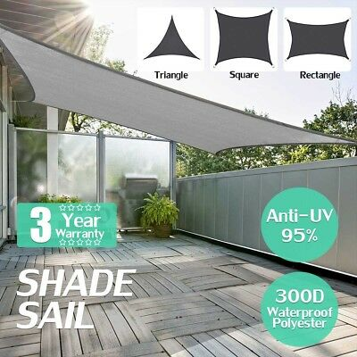 300D Sun Shade Sail Outdoor Garden Waterproof Canopy Patio Cover UV Block  new
