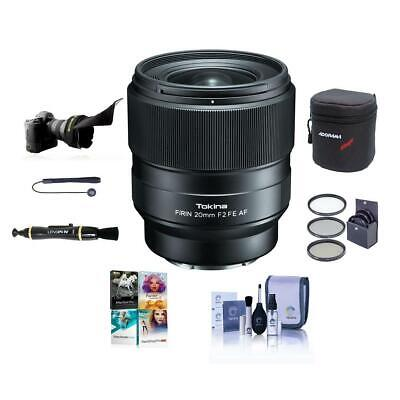 Tokina FiRIN 20mm F/2.0 FE Auto Focus Lens for Sony E Series W/Free Acc Bundle