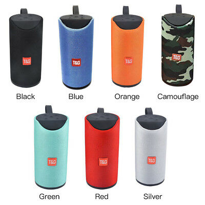 TG113 Wireless Bluetooth Speaker Waterproof Outdoor Bass Stereo USB FM Radio
