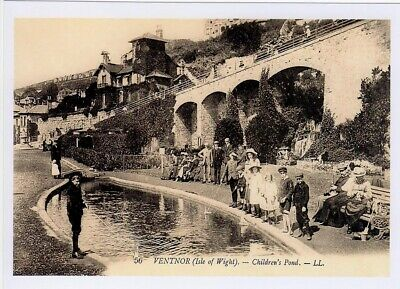 (am62) Isle of Wight Ventnor Children's Pond Copy of a Postcard