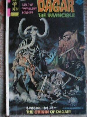 """DAGAR THE INVINCIBLE"" #18,1972, Gold Key`s own Conan comic origin issue."