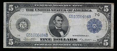 Series of 1914 $5 Large Federal Reserve Note Fr-871B