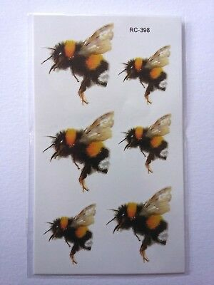 BEE TEMPORARY TATTOOS 110mm X 60mm RC398