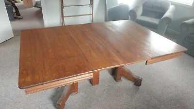Antique oak dining room table