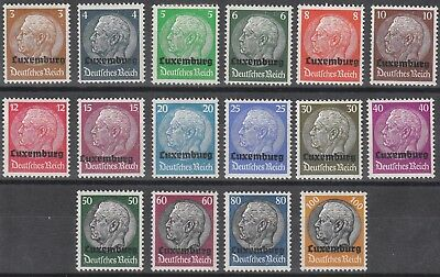 Stamp Germany Luxembourg Mi 01-16 Sc N17-29 WWII Hindenburg MNG
