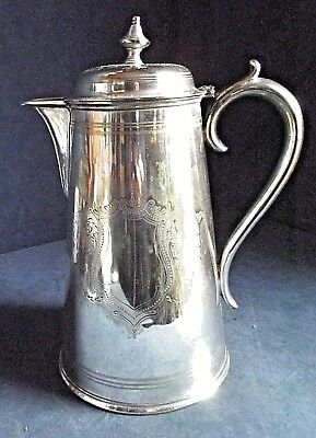 SMART Large ~ SILVER Plated ~ Elkington ~ ENGRAVED Water / WINE JUG ~ c1890