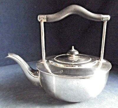 SUPERB Large AESTHETIC ~ SILVER Plated ~ Kettle TEAPOT ~ c1900 William Suckling