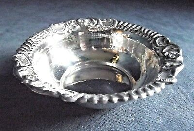 SUPERB Ornate ~ SOLID SILVER ~ Bon Bon DISH