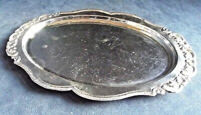 SUPERB Ornate ~ Solid SILVER ~ Courtesy TRAY ~ 179g