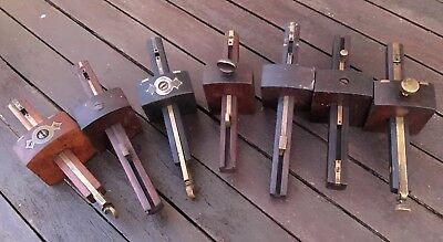 Job Lot Of  Seven Antique/Vintage Mortice Gauges