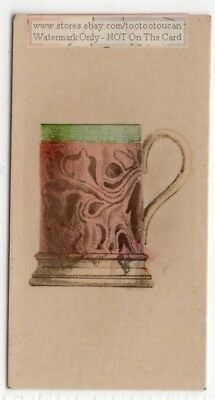 Antique 1800s English Beer Dinner Mug Pottery Ceramic 1920s Trade Ad Card
