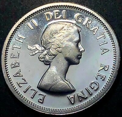 1963 Canada 80% Silver 25 Cent Quarter ***PL-65 Condition*** Great Detail