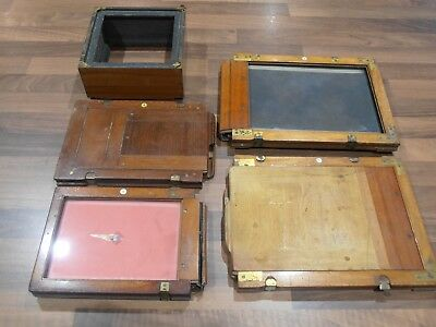 Job lot of Antique Plate Camera parts to clear