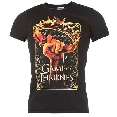 100% Official Licensed Merch Men's T-SHIRT Top GAME OF THRONES Crown Logo