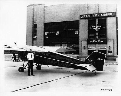 1932 Hudson Terraplane Powered Monoplane ORIGINAL Photo Negative nad6162