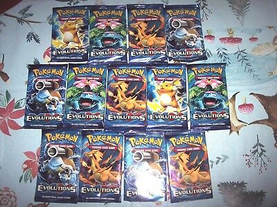 13 Pokemon Evolutions 10 Card Booster Packs - Sealed - L2