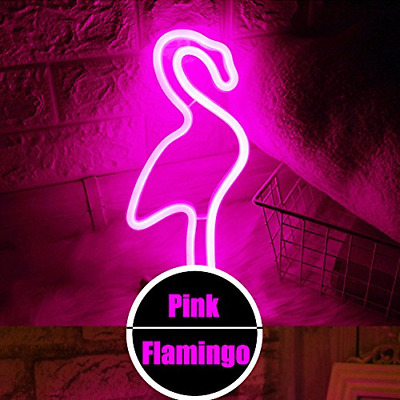 Flamingo Neon Light Signs - XIYUNTE Pink Neon Flamingo Light Wall Lamp Room and