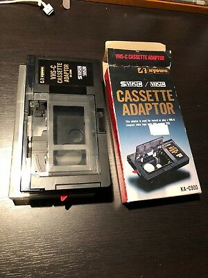 Kyowa  VHS-C  Adapter Play Compact Video Camcorder Cassette Tapes in VCR KA-c900