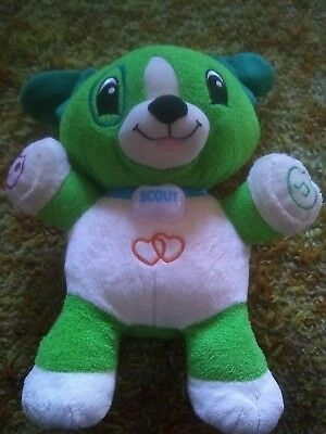 Leap Frog My Pal Scout Interactive Plush Dog Toy Singing Talking Puppy