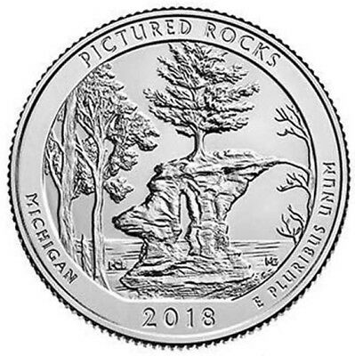 2018 D Pictured Rock National Lakeshore Quarter - Brilliant Uncirculated - ATB
