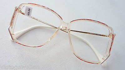 Owp Large Ladies Glasses Acetate Plastic Vintage 70er XL Red White SIZE S