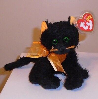 08ab21d0a99 TY BEANIE BABY ~ ZIP the Black Cat (8 Inch) MWMT -  9.90