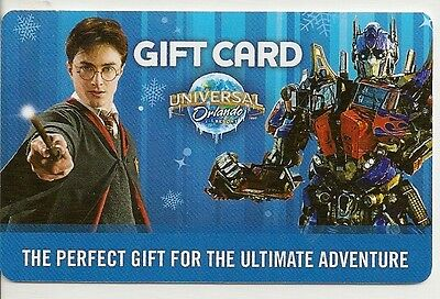 Universal Studios Orlando FL Harry Potter Transformers Gift Card 2013 Collectibl