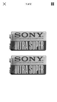 2 X Sony 9V Pp3 Ultra Heavy Duty Batteries Zinc Carbon