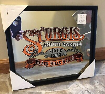 Brand New Sturgis 13 X 15 Mirrored Sign