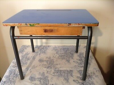 French Wooden Child's School Desk (1982)