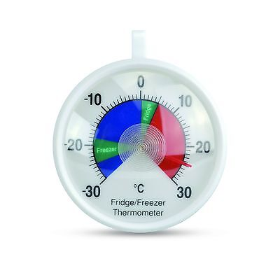Fridge & Freezer thermometer with colour-coded 70mm dial & safe temperature zone