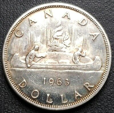 1963 Canada Silver $1 Dollar ***Great Condition*** 80% Silver Coin
