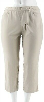 Susan Graver Petite Ultra Stretch Pull-On Crop Pants Sandstone 16P NEW A288161