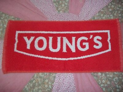 "YOUNG'S Bar Towel, Beer,Brewery, Breweriana, 8"" X 16.5"", EC"