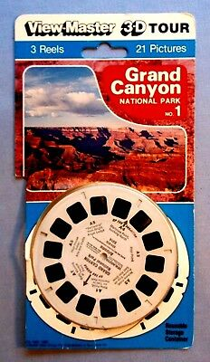 Viewmaster Reels - Grand Canyon National Park - Set In Original Packaging(Open)