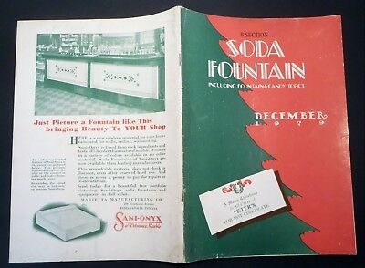 Dec 1929 SODA FOUNTAIN MAGAZINE packed w/ Graphic Illustration Advertising 44pg