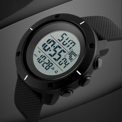 SKMEI Mens Quartz LED Digital Alarm Date Military Sports Army Waterproof Watch