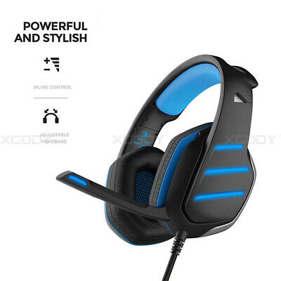 Wired PC Gaming Headset Stereo Headphone for PS4 Nintendo Switch Xbox One X 360