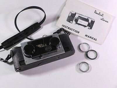 Stereo Realist Camera f3.5 for parts or repair w/instruction & filters - WM