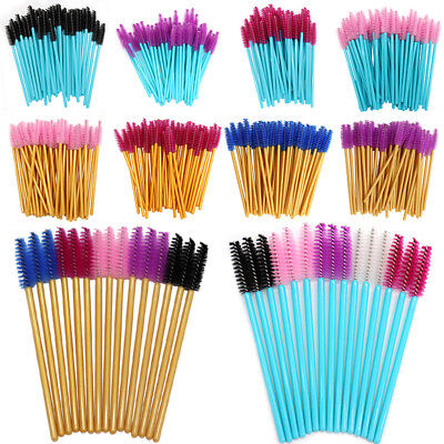 50PCS/Pack Micro Disposable Brush Mascara Wands Extension Eyelash Applicator