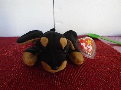 """TY Beanie Babies """"DOBY"""" the Doberman ! RETIRED! A MUST HAVE!"""