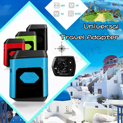 4 USB Ports Universal Travel Power Adapter All-In-One International Fast Charger