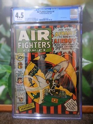 Air Fighters Comics #4 Cgc 4.5 Hitler Appearance Vol 1 No 4 Golden Age
