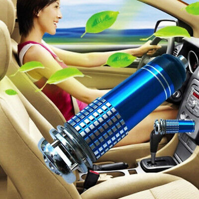 12V Mini Auto Car Home Fresh Air Ionic Purifier Oxygen Bar Ozone Ionizer Cleaner