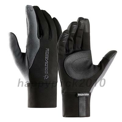 Mens Women Reflective Sport Gloves Thermal Walking Sports Running Touch Screen